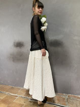 """QUILTING SKIRT """"LITTLE CREATIVE FACTORY"""" OFF WHITE"""