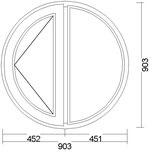 Circular con ala lateral Fijo V-65