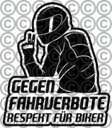 Aufkleber für Biker, BxH (mm): 110x126