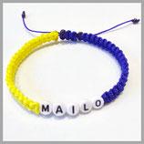 Armband mit Namen und verstellbarem Verschluss