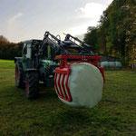 Ballenzange mit Euroaufnahme (für Rundballen)