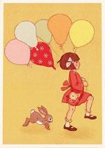 Balloon - Belle & Boo Postkarte