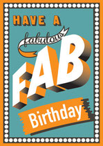 Fab Birthday - Postkarte