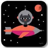 Space Cat - Untersetzer