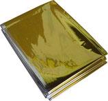 Rettungsdecke gold/silber 160cm x 210 cm