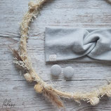 Aktion Ohrstecker Grau- das passende Haarband gibts bei Lulupswerkstatt