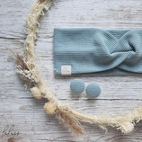 Aktion Ohrstecker Mint-Hellblau- das passende Haarband gibts bei Lulupswerkstatt
