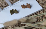 Ohrstecker aus Modelliermasse Herbst 1