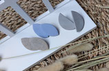 Ohrstecker aus Modelliermasse Oval 2