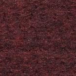 Wolle+Seide Nadelvlies per m, schwarz+rot