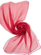Seidenschal Chiffon 3.5 - Passion-Rot 180x55