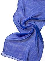 Seidenschal Tissu de Gaze - Royalblau