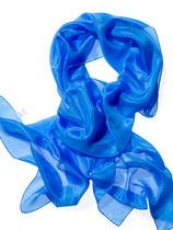 Pongé-Schal 180x45, Brillantblau