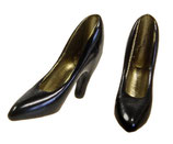 High Heels schwarz mini 2cm
