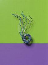 Seidenschnüre 10 Stk farbig sortiert blau