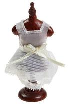 Schneiderpuppe mit Kleidchen 8cm
