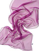 Seidenschal Chiffon 3.5 - Purpur 180x55