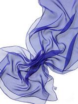 Seidenschal Chiffon 3.5 - Royalblau