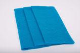 Nadelvlies 20 x 25 cm - Türkisblau