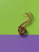 Seidenschnüre 10 Stk farbig sortiert bunt