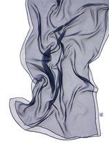 Seidenschal Chiffon 3.5 - Nachtblau 180x55