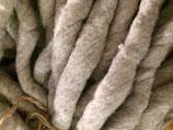 Gewalkter Wollkammzug Naturgrau 3 Meter
