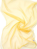 Seidenschal Chiffon 3.5 - Zitronengelb