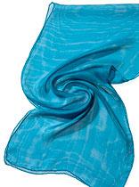 Seidenschal Tissu de Gaze - Türkisblau