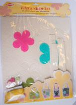 Großes Filztaschen-Set Blume