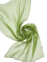 Seidenschal Chiffon 3.5 - Mittelgrün 180x55