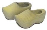 Holzschuhe 4 cm verwittertes Holz