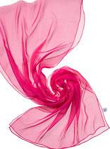 Seidenschal Chiffon 3.5 - Fuchsia 180x55