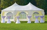 Luxus Pagode Partyzelt Festzelt Großzelt stabile Qualität 7x5 m
