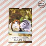 EARLY BIRD - 2018 Guinea Pig Calendar  (Mieps & Archie)