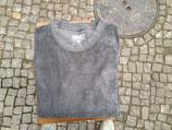 Langbrett Frotte Sweater dunkelgrau        Größe S