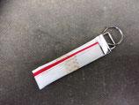 Bolleby Schlüsselband Upcycling Segel -  rot