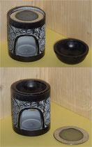 Weihrauchbrenner Duftöllampe Speckstein schwarz