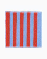 Marimekko Kaksi Raitaa towel blue/red- Handtücher rot/blau