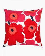 Marimekko Pieni Unikko cushion cover red 50x50 cm- Kissenbezug