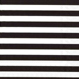 Marimekko Papier Serviette TASARAITA BLACK- napkin Marimekko