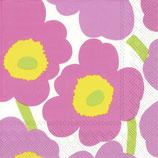 Marimekko Papier Serviette Unikko light pink - napkin Marimekko