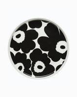 Marimekko Oiva / Unikko plate 20 cm- Teller schwarz/weiß