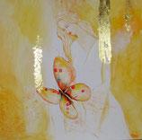 Engel  - Schmetterling - Jemand liebt dich besonders   50 x 50 cm   LEINWANDDRUCK