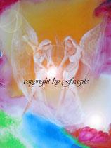 Wir tragen das Licht in deine Welt   (Leinwanddruck)  70  x 50 cm FREUDE-ANGEBOT