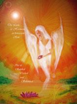 Die Liebe ist Harmonie in bewusstem Sein   (Poster A4) handsigniert