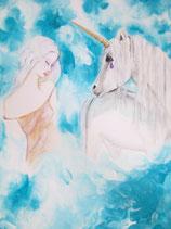 Einhorn Jolilu, Du bist das Wunder des tiefen Glaubens (Poster A4)