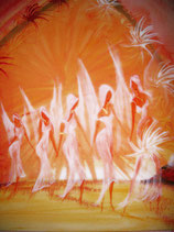 Lebenstanz  (Leinwanddruck) 70 x 50 cm FREUDE-ANGEBOT