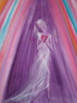 Göttin mit dem Herzenserfolg  (Poster A4) handsigniert