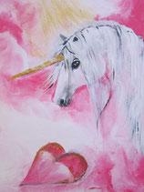Einhorn Molinaris, Du bist das Wunder der heilenden Herzen (Poster A4)