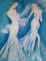 Göttin der Kristallenergie (Leinwanddruck)
